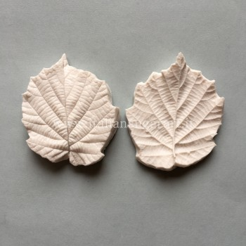 Silicone mold for hazel leaves