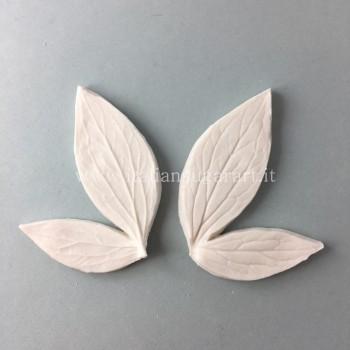 stampo silicone Peonia Foglia Doppia paste edibili