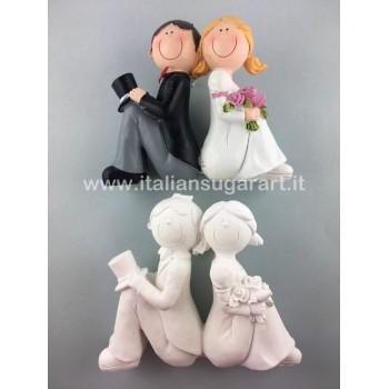 Cake Topper Sposi in silicone o polvere di ceramica
