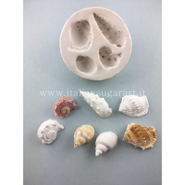 multiple mold conchiglie sugar paste