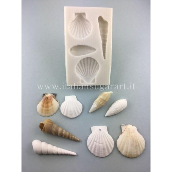 Silicone mold to make shells