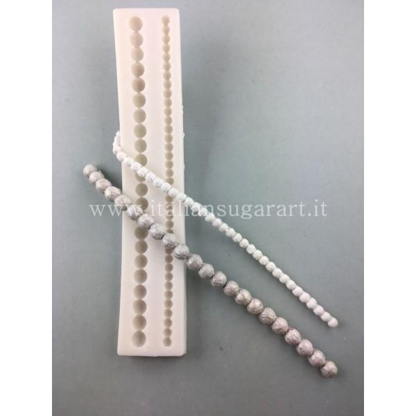 stampo in silicone filo di perle in pasta di zucchero