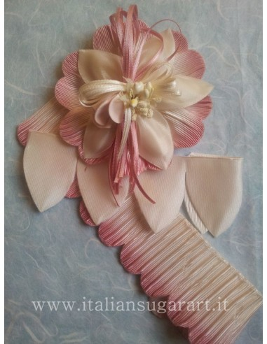 pink organza bags for sugared almond