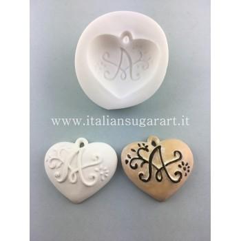 heart mold initials