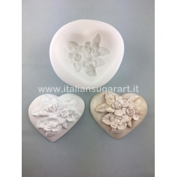 Heart with flowers 1Mould