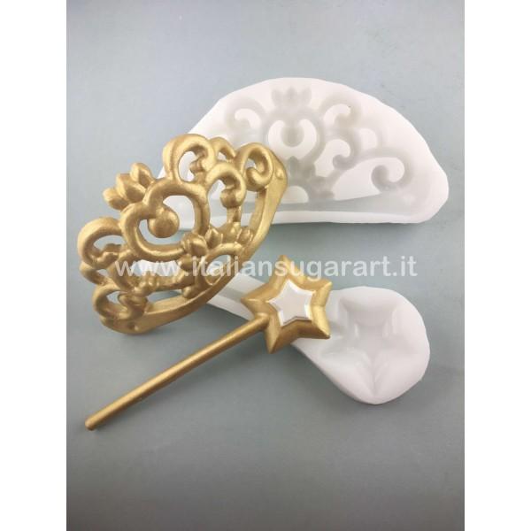 Princess Crawn and Wand silicone Mold
