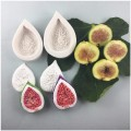 Half Fig silicone Mold for Sugar Paste and Cold Porcelain Decorations