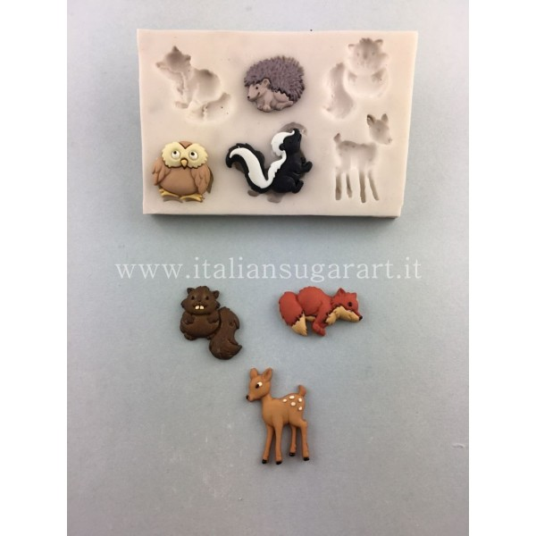 stampo in silicone animali decorazione cupcake
