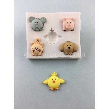 stampo in silicone cupcake animali