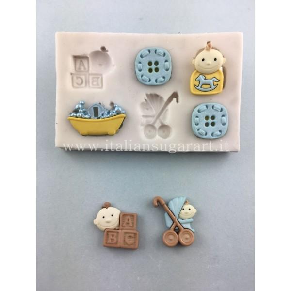 set per cake design stampo bambini