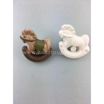 stampo silicone cavalluccio a dondolo thun bomboniere o polvere di ceramica