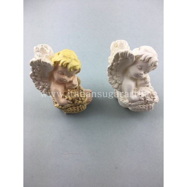 angelo 3d in porcellana creato con stampo in silicone