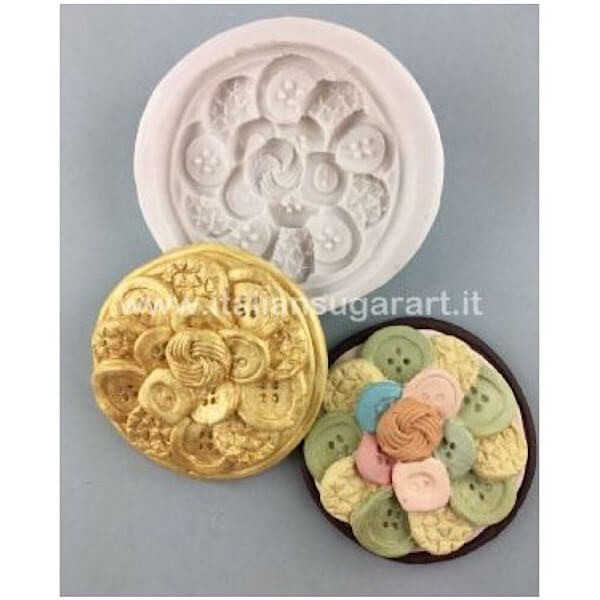 Cupcake Buttons Mould