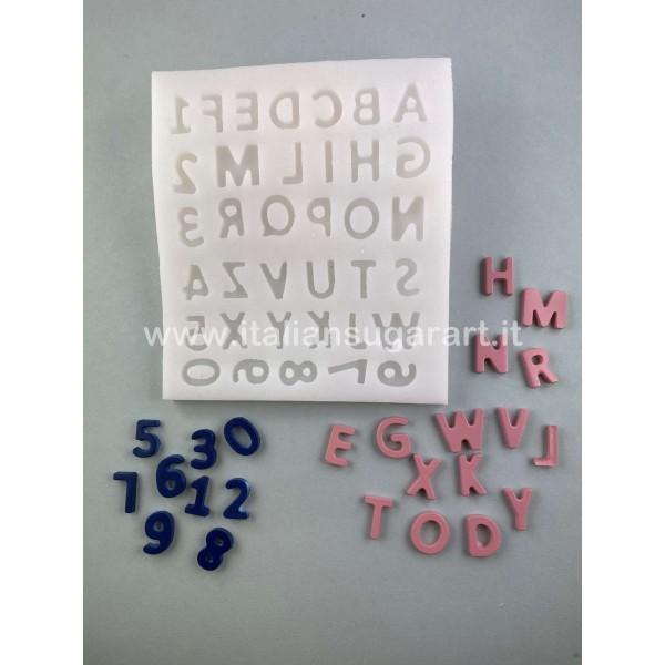 Stampo tappetino in silicone alfabeto e numeri