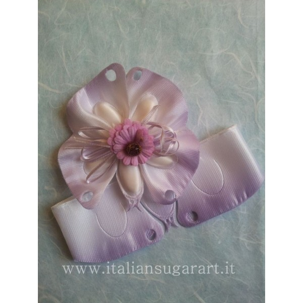 satin ribbon motif butterfly with insert for wedding favors