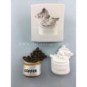 stampo in silicone barattolo caffe' pasta di mais o porcellana