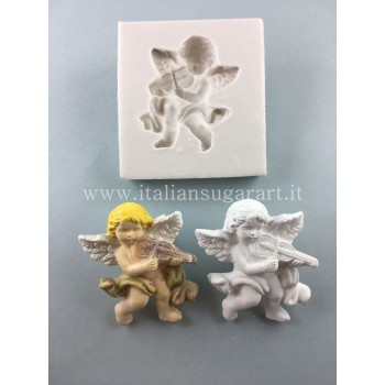 Angel mold with violin
