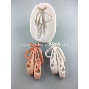 Silicone mold for ballet slippers