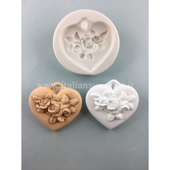 Heart with flower for modeling pastes