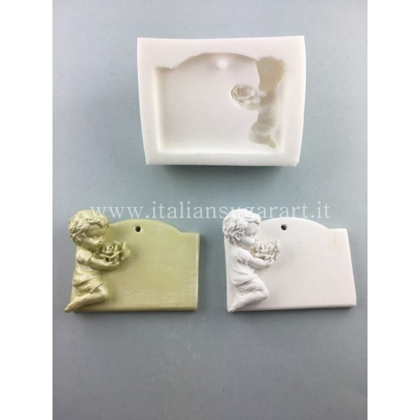 Mold of a Baby with a Rose