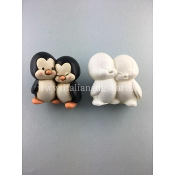 stampo 3 d coppia pinguini