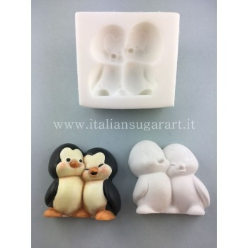 cake design penguin mold
