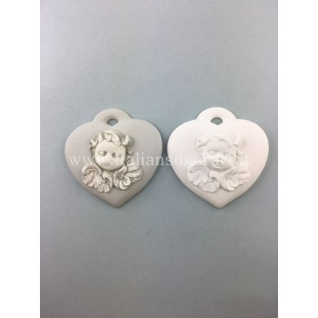 silicone heart with angel
