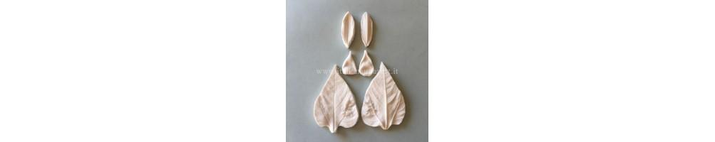 Vendita online di stampi in silicone 3d petali e foglie set completi