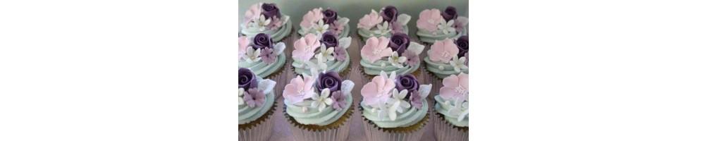 Stampi in silicone per cupcake, ideali per ogni tipo di pasta modeling